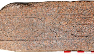 Lintel with Middle Kingdom cartouches unearthed in Egypt