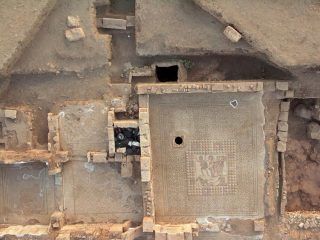 Archaeologists discover elaborate mosaics in Roman villa in Ptolemais