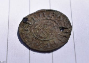 Anglo-Saxon coin found at Pictish fort