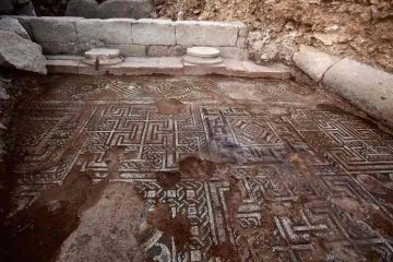 Ancient mosaic found in downtown Damascus