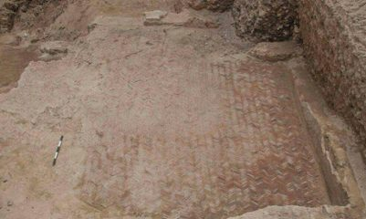 Ancient mosaic floor unearthed in Alexandria