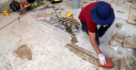 Mosaic with Greek mythology motifs discovered