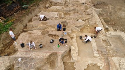 Elaborate mosaics found in ancient Roman house