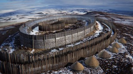 Digital reconstruction of an Iron Age hillfort