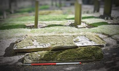 Newly found Medieval burial stone may date to 12th century