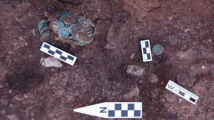Treasure of Roman coins discovered at mining site