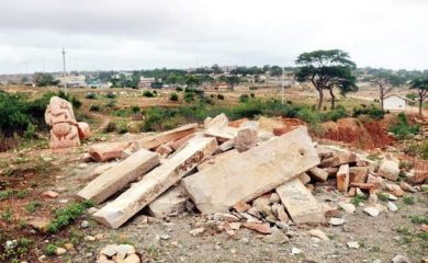 Ancient temple collapses due to illegal digging