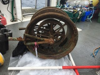 Artefacts from the wreck of RMS Lusitania recovered