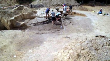 Remains of a Neolithic house unearthed
