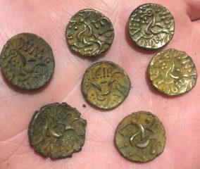 Trove of Iron Age coins with stamped local names found