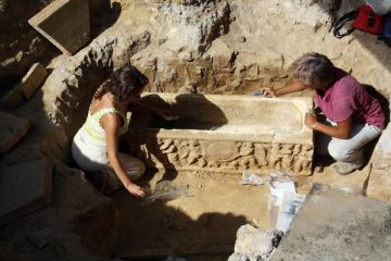 Construction works lead to discovery of ancient Roman sarcophagus