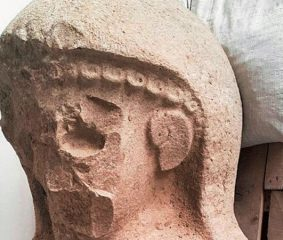 Statue of a presumed deity discovered at Neo-Hittite capital