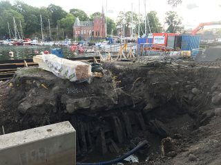 Swedish king's warship unearthed in Stockholm