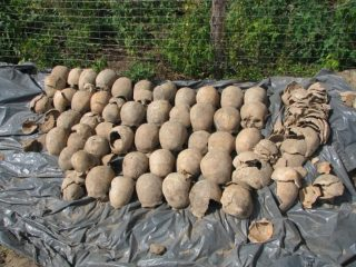Remains of 3000 individuals found during road construction