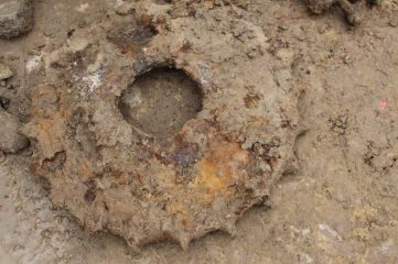 Tank parts found during subway construction