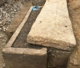Roman sarcophagus discovered in London