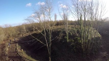 Forgotten Norman-era motte-and-bailey castle found within trees