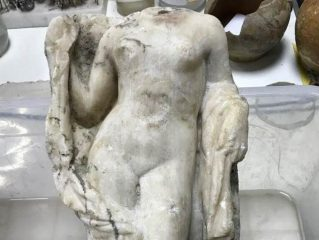 Headless statue of Aphrodite found at construction site