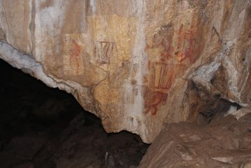 Upper Palaeolithic cave painting of a camel found in Ural Mountains