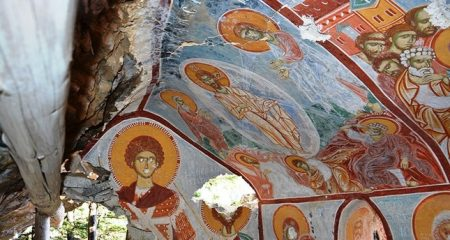 Painted chapel discovered during monastery's renovation