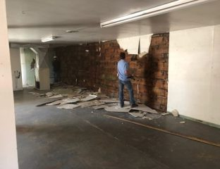 Walls made of WW2-era military crates discovered