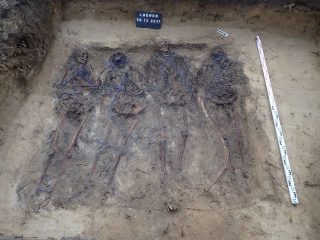 Grave of German soldiers bound with cord found