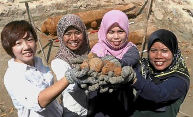 Trove of cannonballs discovered at a colonial fort