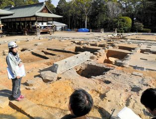 Tile kin discovered at ancient temple grounds